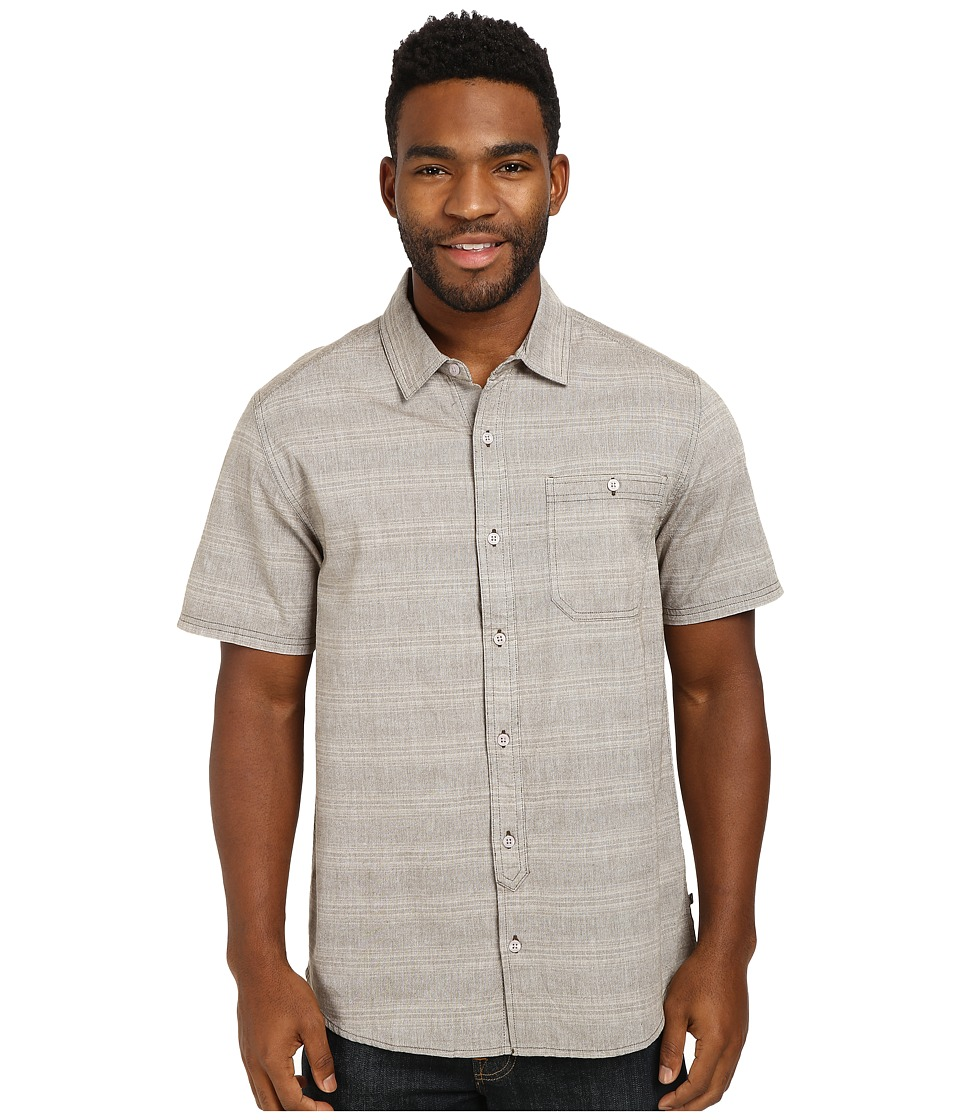 Toad&Co - Hardscape S/S Shirt (Driftwood) Men's Short Sleeve Button Up