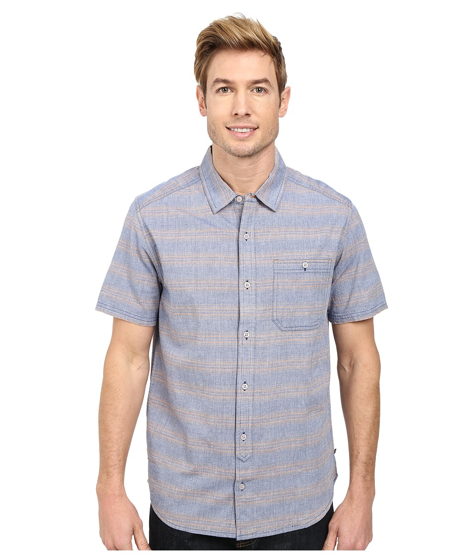 Toad&Co - Hardscape S/S Shirt (Deep Blue) Men's Short Sleeve Button Up