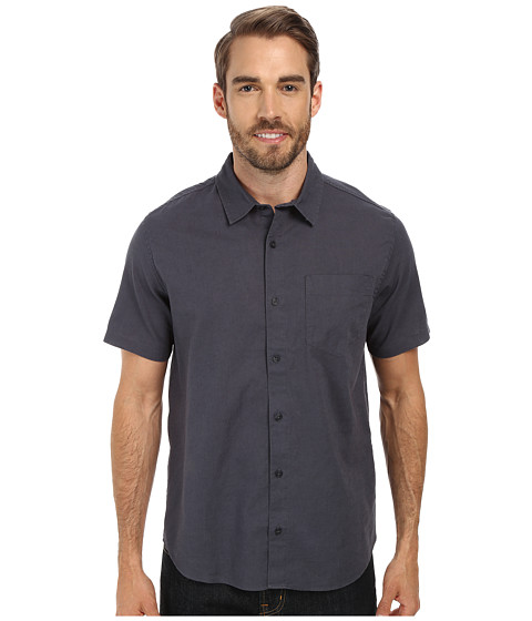 Toad&Co - Mescal S/S Shirt (Blue Steel) Men's Short Sleeve Button Up