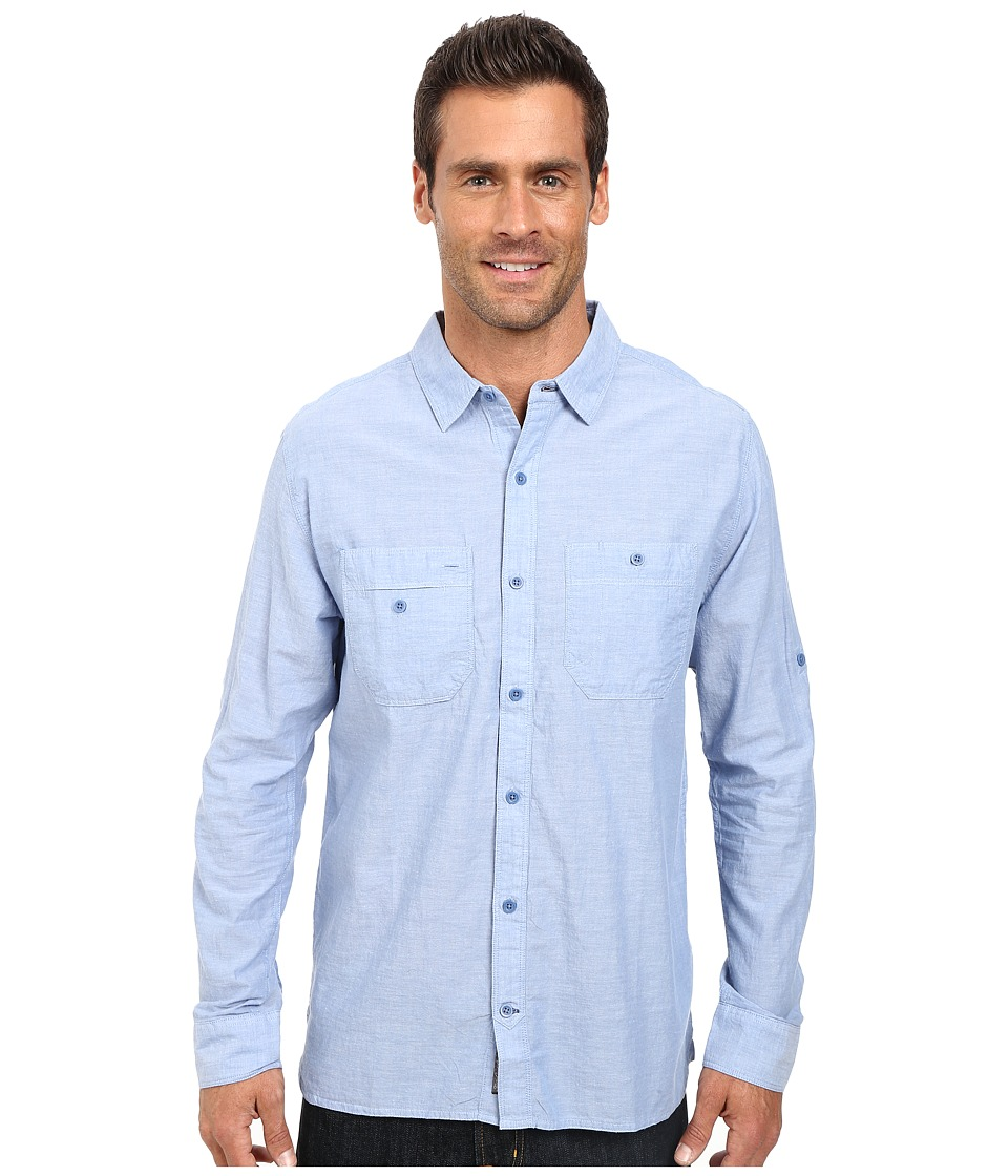 Toad&Co - Honcho L/S Shirt (Berber Blue) Men's Long Sleeve Button Up