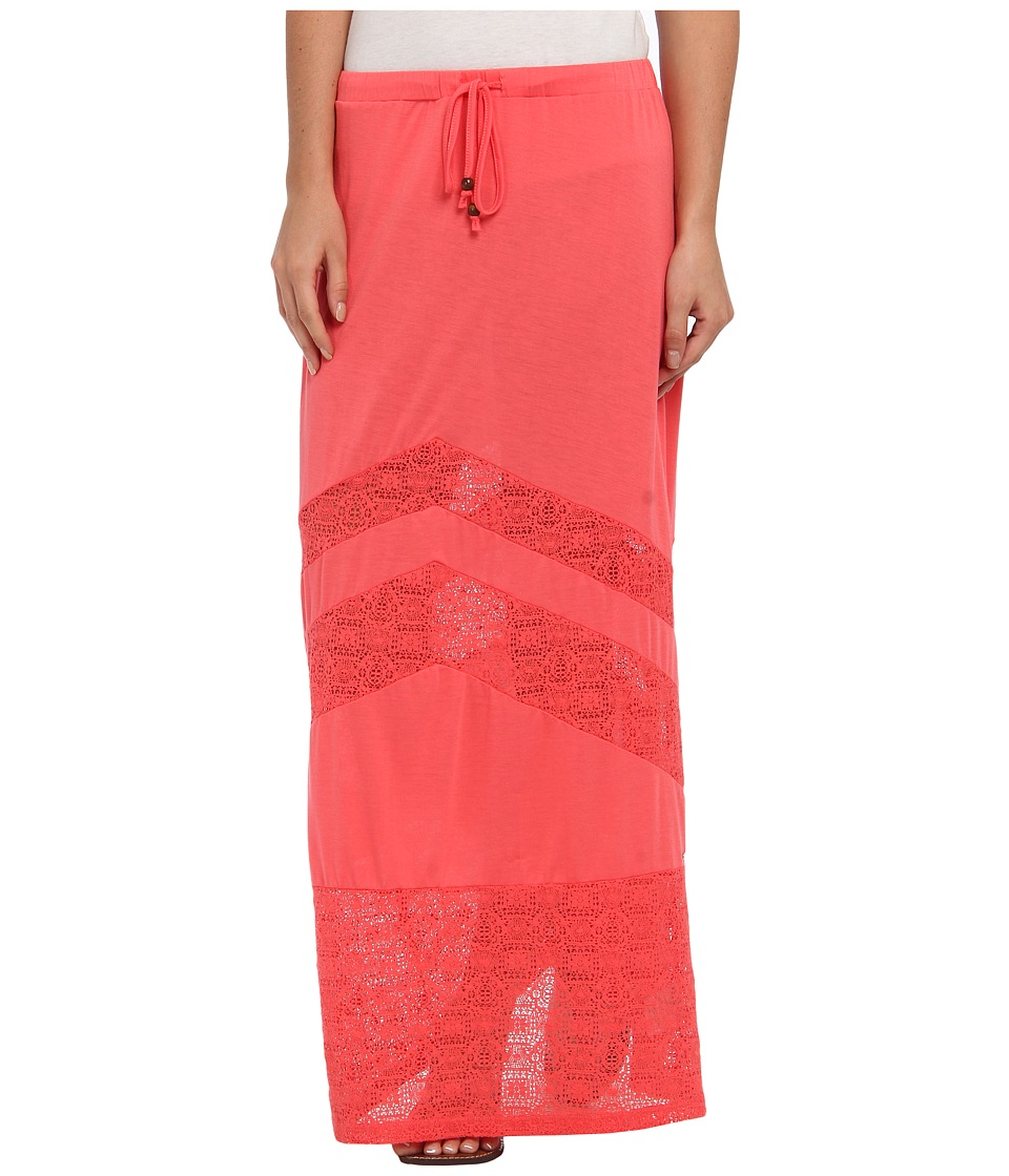 Rip Curl - Sweetest Thing Maxi Skirt (Coral) Women's Skirt