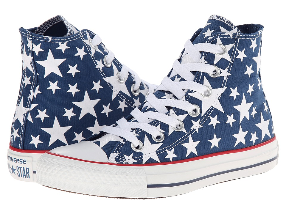 Converse - Chuck Taylor All Star Multi Star Print Hi (Midnight Hour/Midnight Hour/White) Shoes