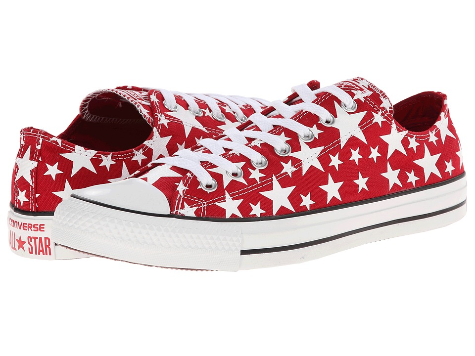 Converse - Chuck Taylor All Star Multi Star Print Ox (Days Ahead/White/White) Shoes