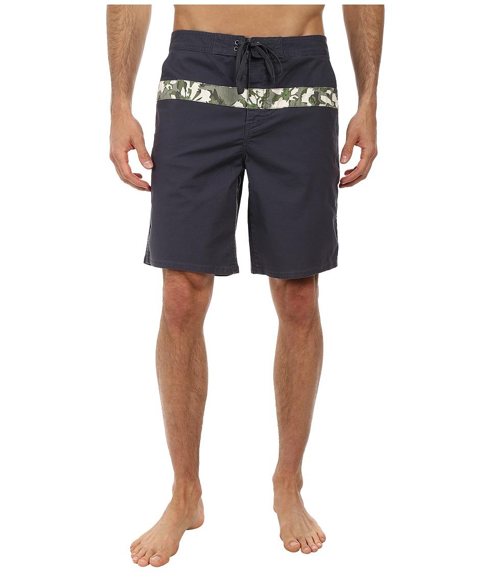 Toad&Co - Bahia Trunk (Blue Steel Print) Men's Swimwear
