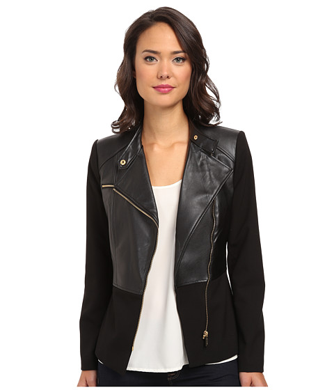 Calvin Klein - Moto Blazer (Black) Women's Jacket