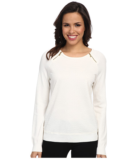 Calvin Klein - Snake Sweater (Birch) Women's Sweater