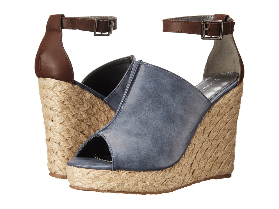 Gabriella Rocha - Miranda (Navy/Wood) Women's Wedge Shoes