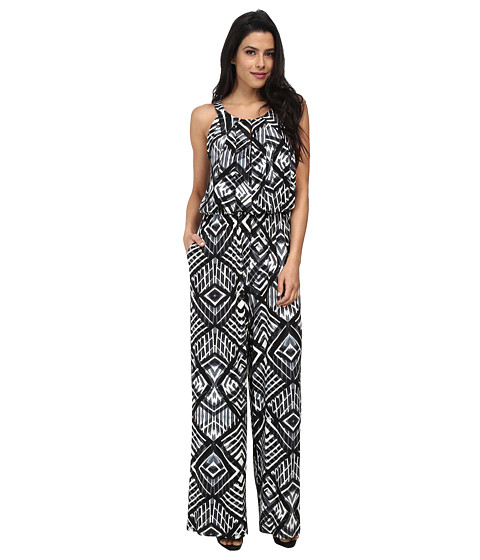Marc New York by Andrew Marc - Halter Print Jumpsuit MD4AM602 (Black Multi) Women's Jumpsuit & Rompers One Piece