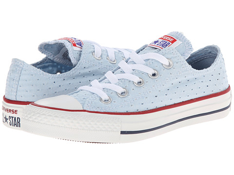 Converse - Chuck Taylor All Star Perfed Canvas Ox (Fountain Blue/White) Women
