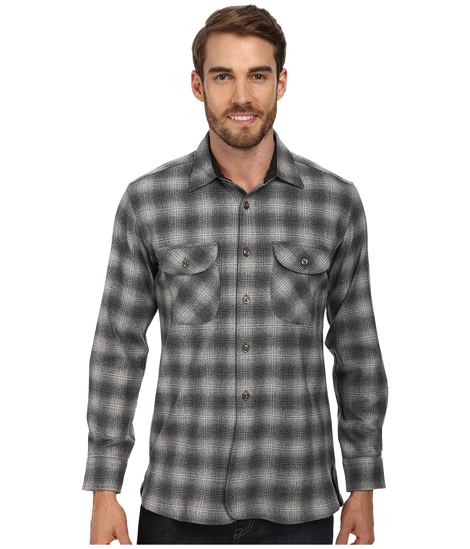 Pendleton - Oliver Shirt (Grey Shadow Plaid) Men's Long Sleeve Button Up