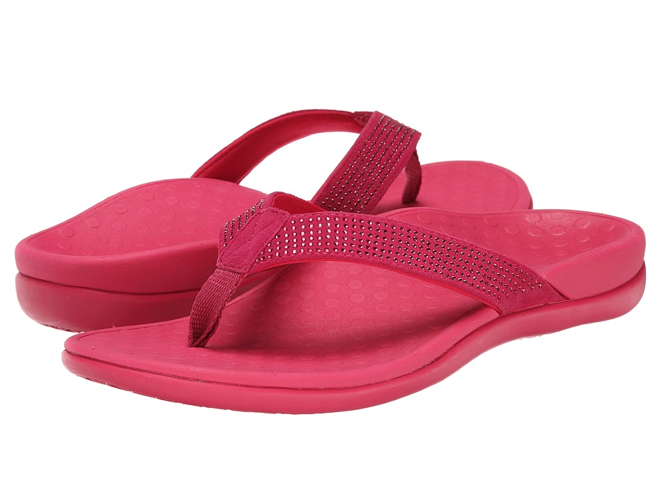 VIONIC with Orthaheel Technology - Tide Rhinestone (Fuchsia) Women's Sandals