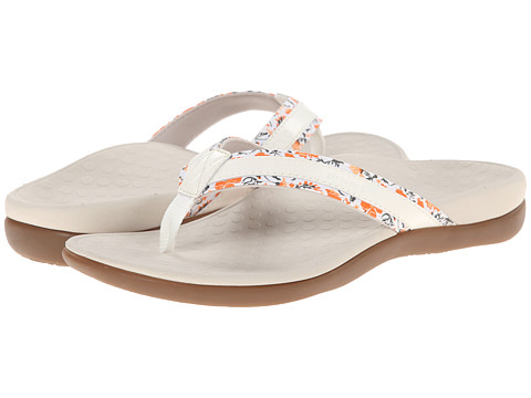 VIONIC with Orthaheel Technology - Tide Floral (White) Women's Sandals