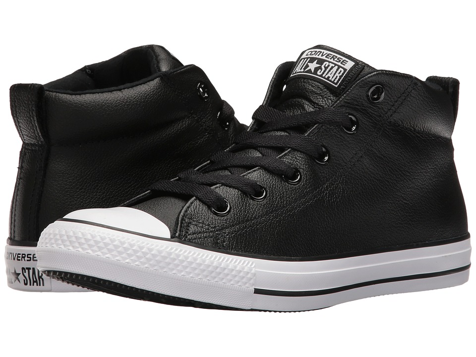Converse - Chuck Taylor All Star Street Mid (Black) Men's Shoes