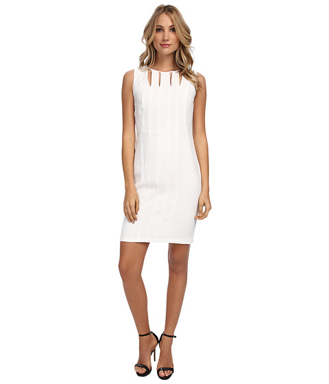 Marc New York by Andrew Marc - Sleeveless Cutout Neck Shift Dress MD4RK920 (Ivory) Women's Dress