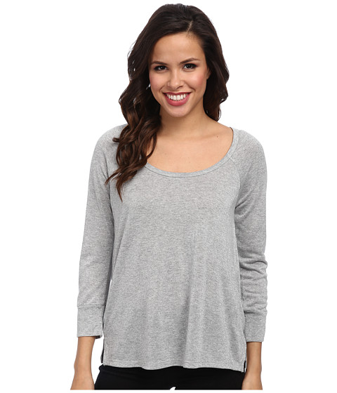 Soft Joie - Elysa Top (Heather Grey) Women's Long Sleeve Pullover