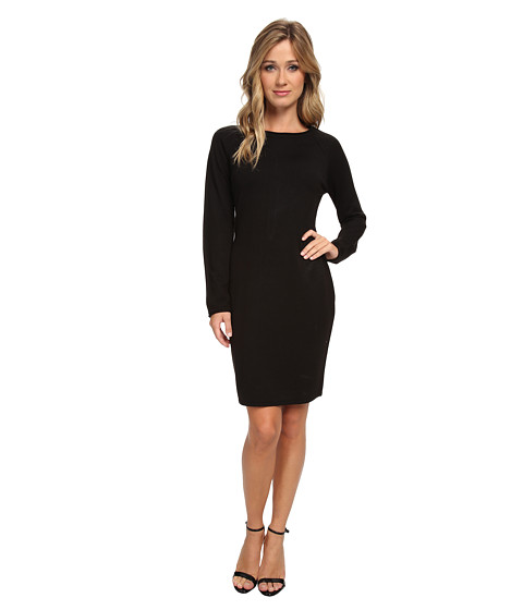 Marc New York by Andrew Marc - Roll Neck Long Sleeve Sweater Dress MD4WK944 (Black) Women's Dress