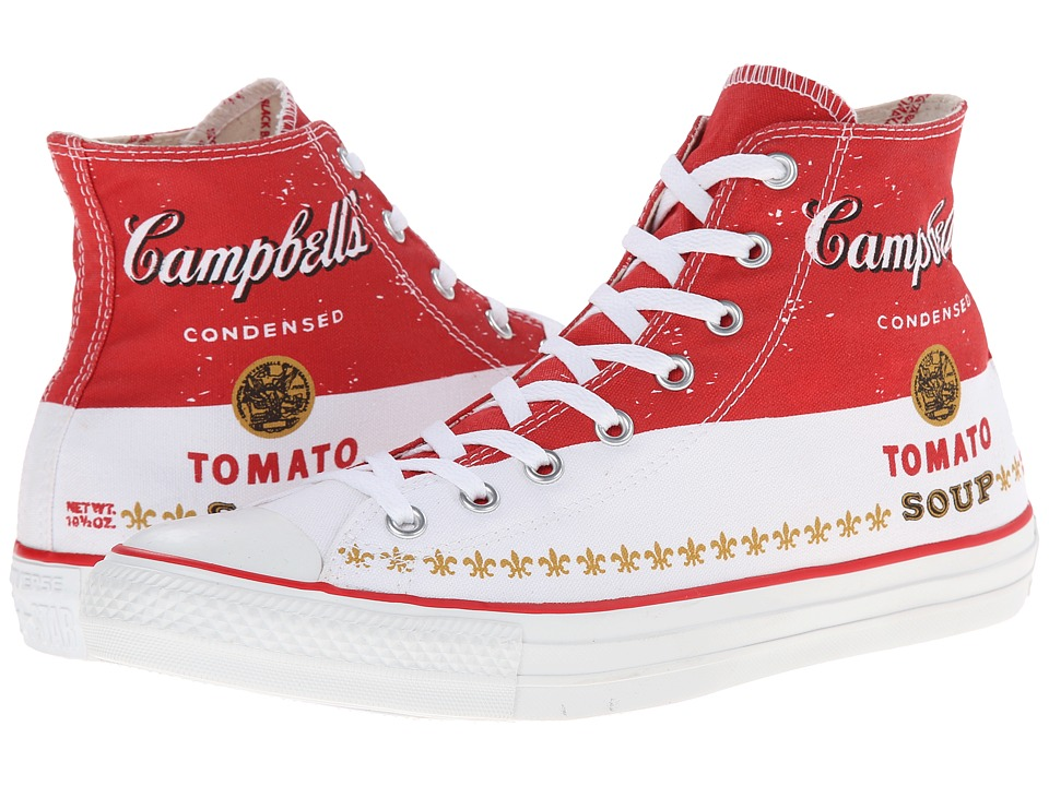 Converse - Chuck Taylor All Star Andy Warhol Hi (Casino/Converse White/Mustard) Shoes