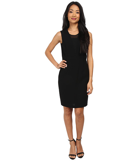 Marc New York by Andrew Marc - Sleeveless Sheer Inset Set Waist Dress MD4RN497 (Black) Women