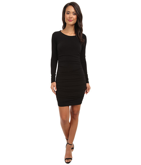 Velvet by Graham & Spencer - PIA02 Exclusive L/S Stretch Jersey Dress (Black) Women