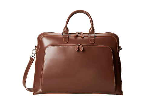 Lodis Accessories - Audrey Brera Briefcase With Laptop Pocket (Espresso) Briefcase Bags