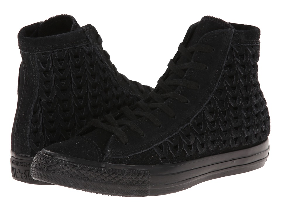 Converse - Chuck Taylor All Star Elevated Woven Hi (Black) Women's Shoes