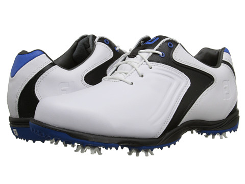 FootJoy - Hydrolite (White/Black/Blue) Men's Golf Shoes