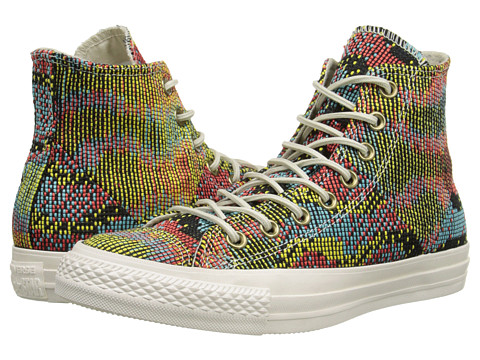 Converse - Chuck Taylor All Star Multi Panel Hi (Peacock/Multi) Women's Shoes