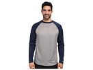 Reebok Baseball Long Sleeve Pullover Top (Athletic Navy/Dark Grey Heather) Men's Long Sleeve Pullover