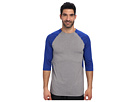 Reebok Baseball 3/4 Sleeve Top (Reebok Royal/Dark Grey Heather) Men's Long Sleeve Pullover