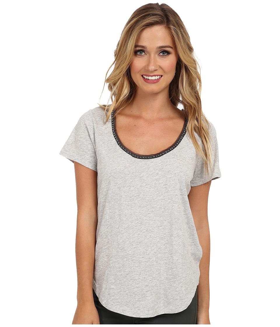Soft Joie - Breean (Heather Grey) Women's Short Sleeve Pullover