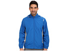 Reebok Woven Jacket with Hood (Blue Sport/Tin Grey/White) Men's Coat