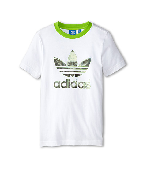 adidas Originals Kids - Star Wars Yoda Tee (Little Kids/Big Kids) (White/Semi Solar Green) Boy's T Shirt