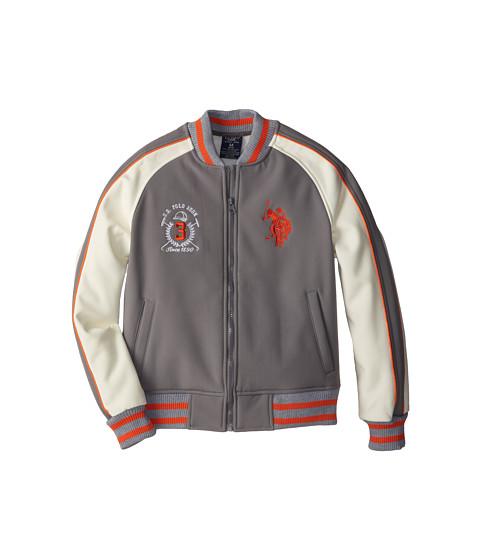 U.S. POLO ASSN. Kids - Softshell Jacket with Stripe Rib Knit Trim (Big Kids) (Qt Shade) Boy