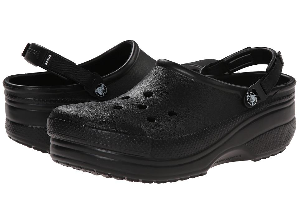Crocs - Cloud Turbo Strap Clog (Black) Clog/Mule Shoes