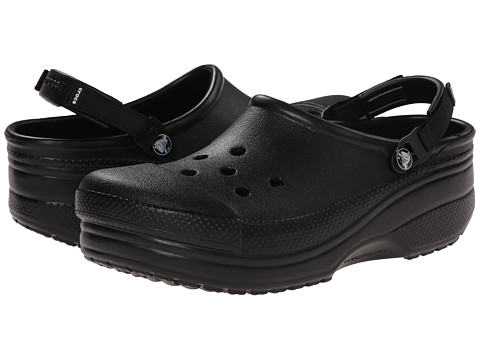 Crocs - Cloud Turbo Strap Clog (Black) Clog/Mule Shoes