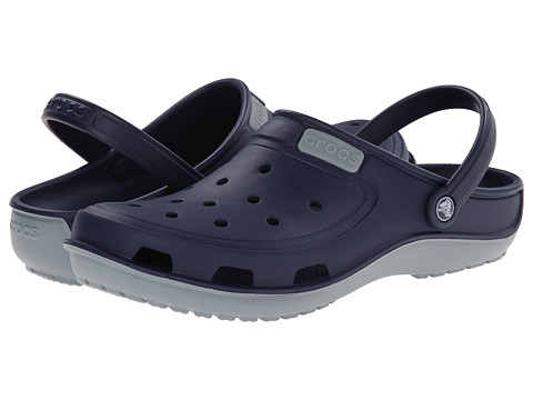 Crocs - Duet Wave Clog (Nautical Navy/Concrete) Clog/Mule Shoes