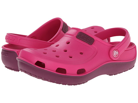 Crocs - Duet Wave Clog (Candy Pink/Plum) Clog/Mule Shoes