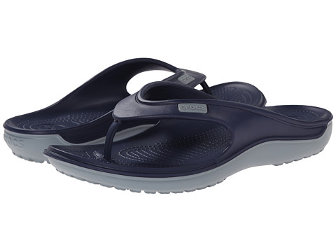 Crocs - Duet Wave Flip (Nautical Navy/Concrete) Sandals