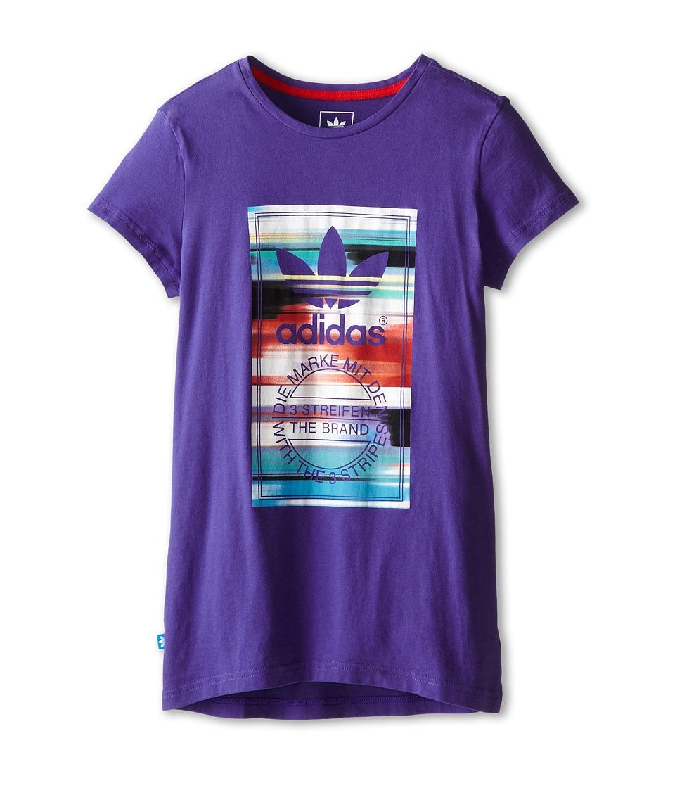 Image of adidas Originals Kids - Concrete Jungle Tee 2 (Little Kids/Big Kids) (Semi Night Flash/Multicolor) Girl's T Shirt