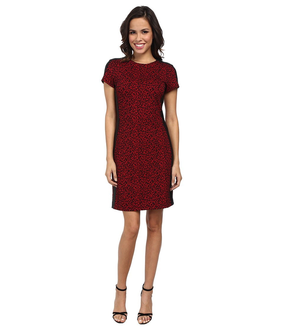 Karen Kane - Red Mini Cheetah Dress (Print) Women
