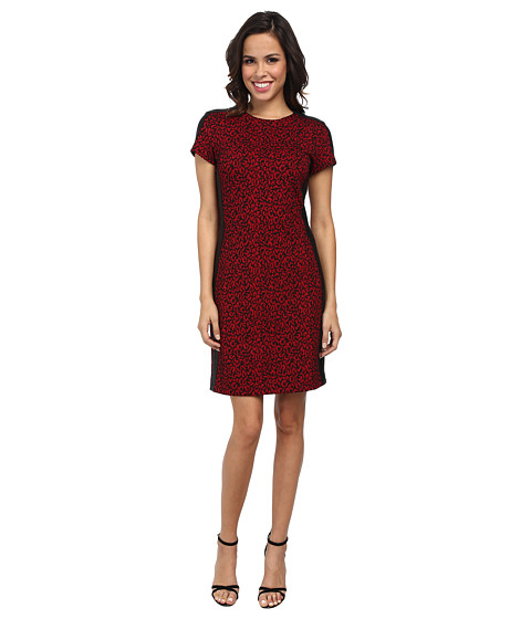 Karen Kane - Red Mini Cheetah Dress (Print) Women's Dress