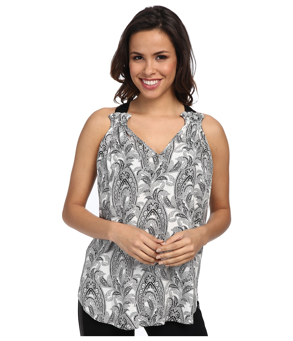 Karen Kane - Grosgrain Ribbon Paisley Top (Print) Women's Sleeveless
