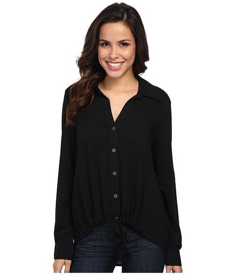 Karen Kane - Midtown Tie Up Shirt (Black) Women's Clothing