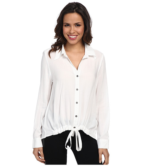 Karen Kane - Midtown Tie Up Shirt (Off-White) Women's Clothing