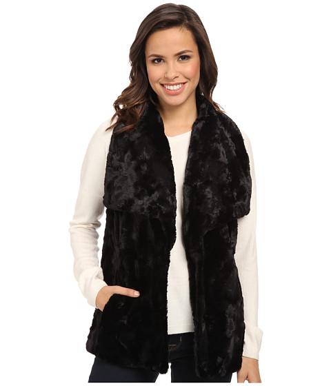 Karen Kane - Faux Fur Vest (Black) Women's Vest