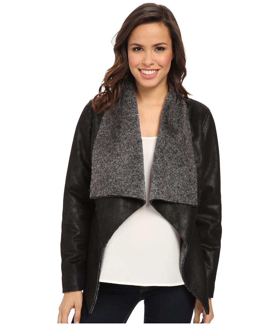 Karen Kane - Faux Fur Coat (Black) Women's Coat