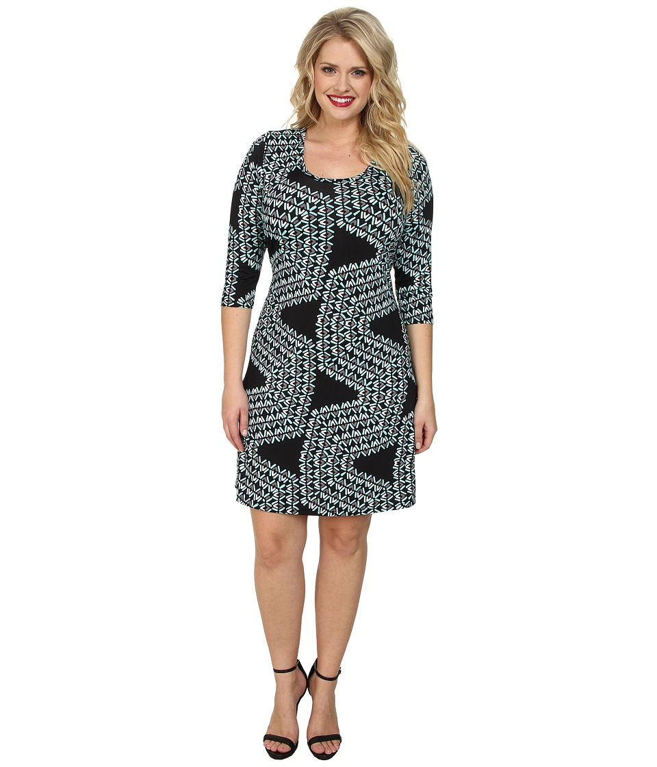 Karen Kane Plus - Plus Size Confetti Geo Dress (Print) Women's Dress