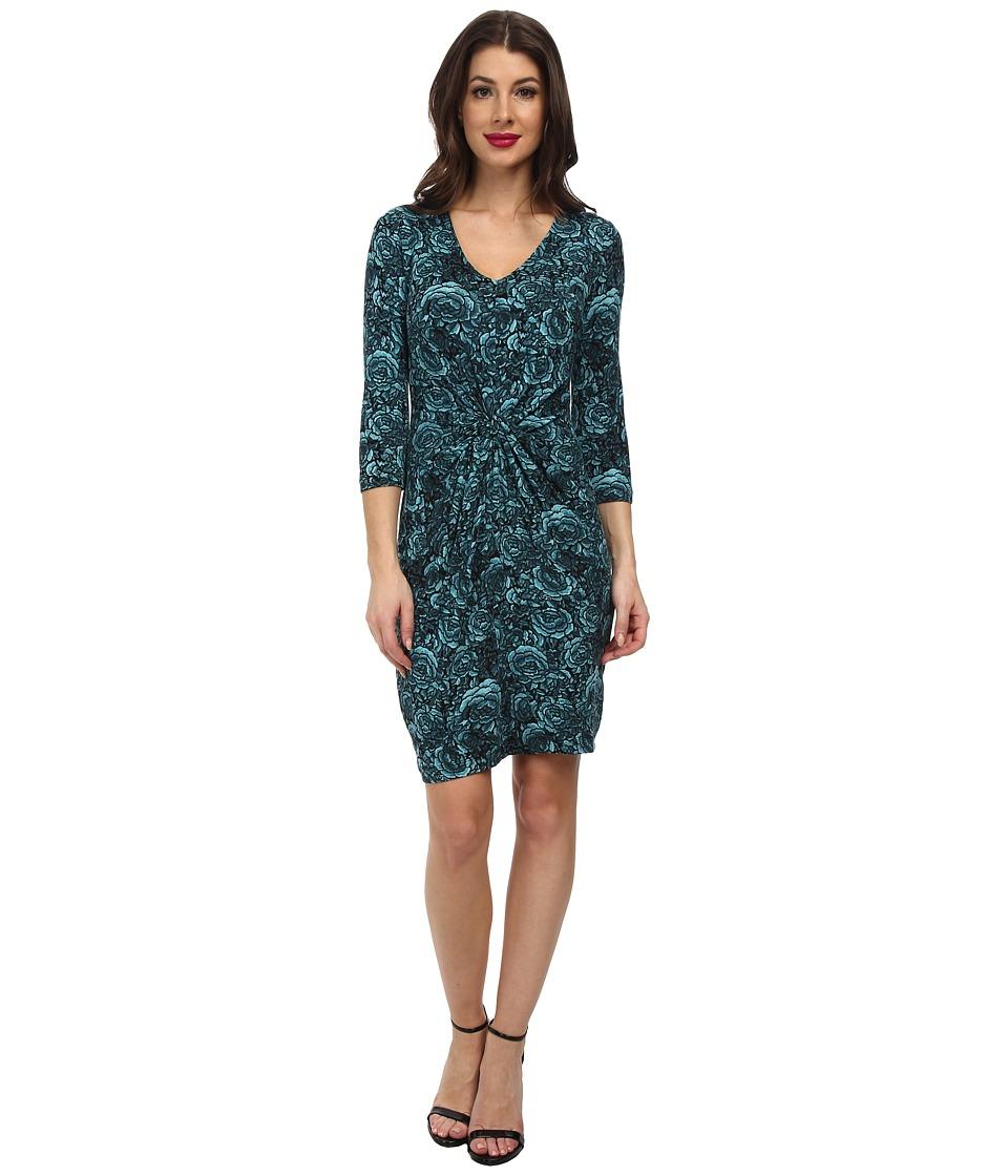 Karen Kane - Blue Rose Tiffany Dress (Mist) Women