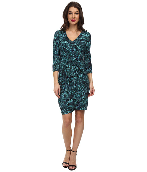 Karen Kane - Blue Rose Tiffany Dress (Mist) Women