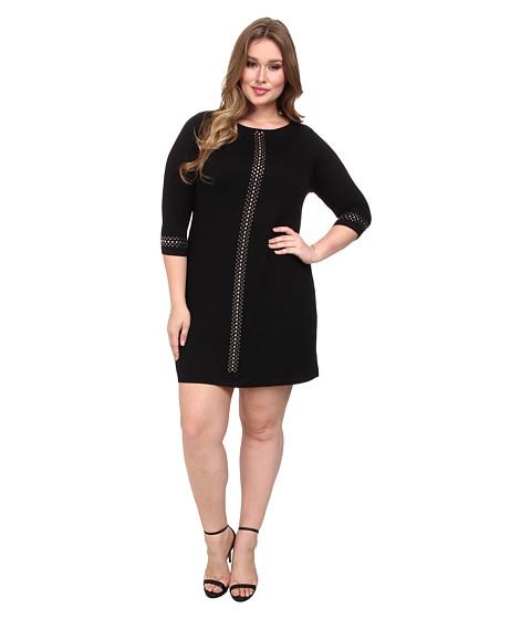 Karen Kane Plus - Plus Size Silver Stud Dress (Black) Women's Dress